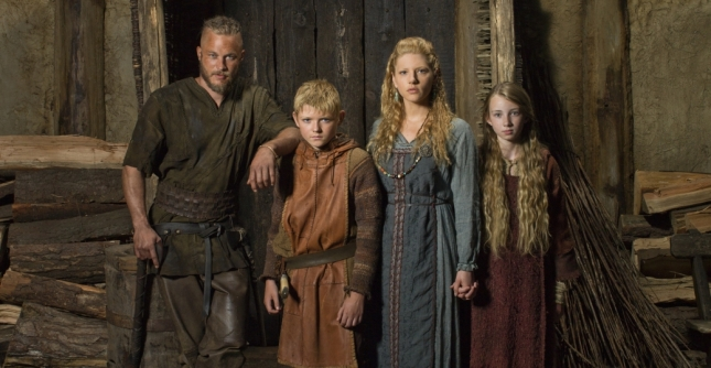 Ragnar e sua família - Bjorn, Lagertha e Gyda (Fotografia:Kevin Lynch)