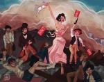 """""""A Liberdade Guiando o Povo"""" de Eugène Delacroix"""